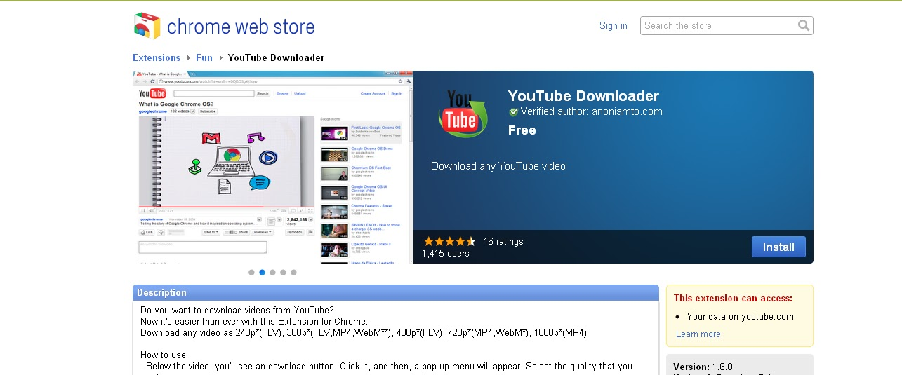 How to add youtube downloader extension in google chrome
