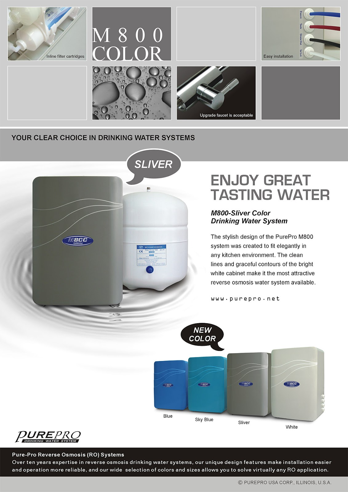 PurePro® M800 Reverse Osmosis Water Filtration System