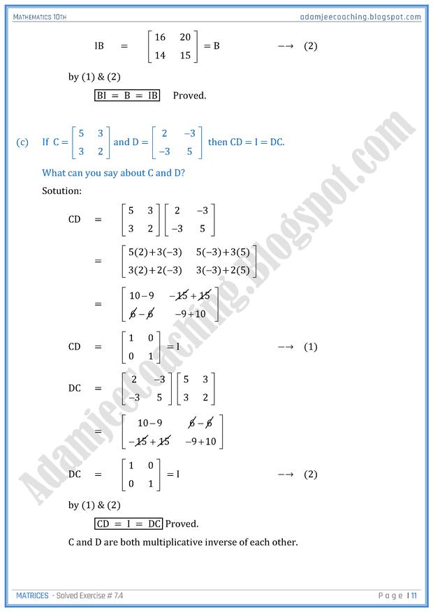 2nd Year Maths Notes Sindh Board Pdf