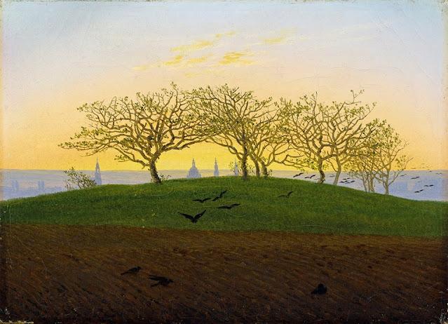 C.D. Friedrich, Collina e campo arato vicino Desdra