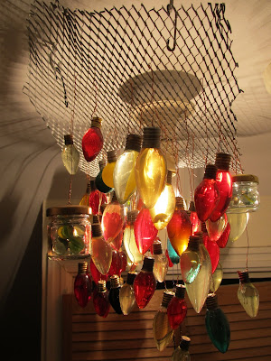 Bulbs and coloured marbles