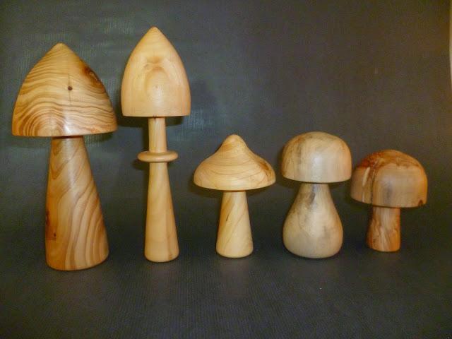 atelier du bois tourn woodturning design champignons. Black Bedroom Furniture Sets. Home Design Ideas
