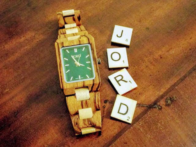 Jord wooden watch witch scrabble tiles