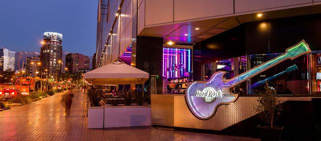 Bar Hard Rock Café em Santiago no Chile