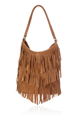 Wallis Tan Fringe Suede Bag