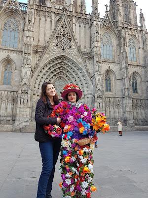 Pouličná umelkyňa Barcelona