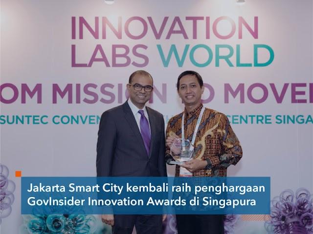 GovInsider Innovation Awards 2018, Satu Lagi Prestasi Jakarta Smart City