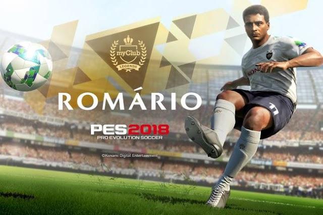 Romário vira lenda no PES 2018