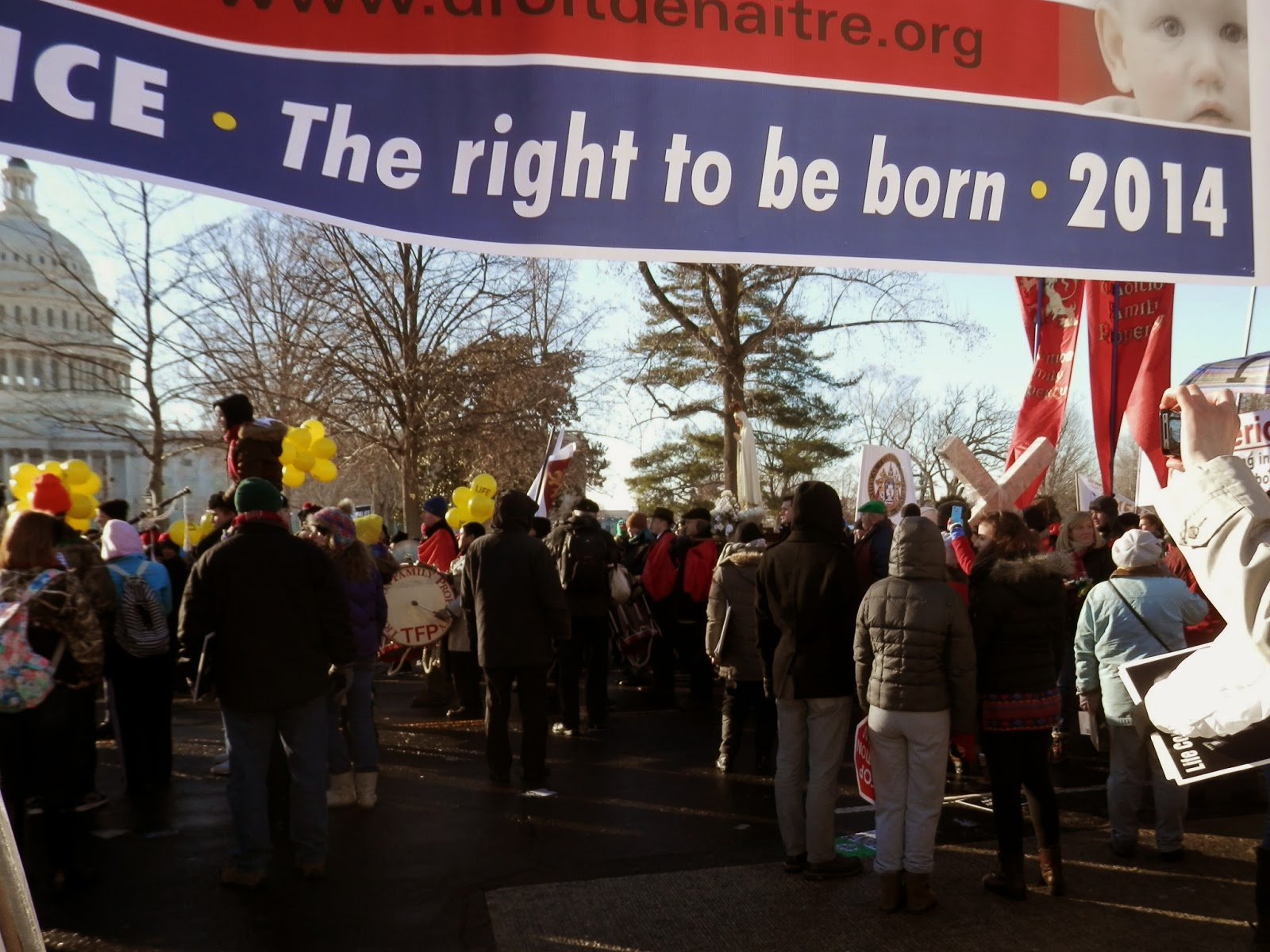 hundreds of thousands gather to march for life each year