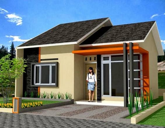Contoh Gambar Taman dan Teras Rumah Minimalis Type 45