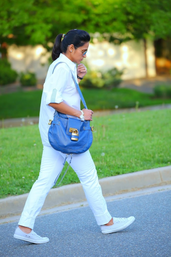 Shirt - Husband's, Jeans - GAP, Shoes - Canvas, Bag - Chloe, Bracelet - Shop Jami, Tanvii.com