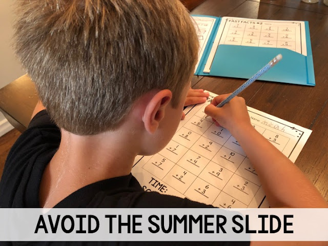 Avoid the summer slide with a few minutes of math facts practice.