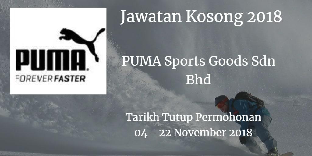 Jawatan Kosong PUMA Sports Goods Sdn Bhd 04 - 22 November 2018