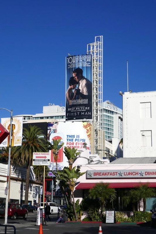 First Man Golden Globe nominee billboard