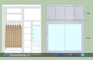 gambar desain lemari