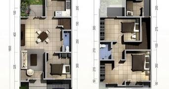 lingkar warna: denah rumah minimalis ukuran 6x18 meter 4