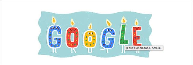 Feliz Cumpleaños Amelia de Google