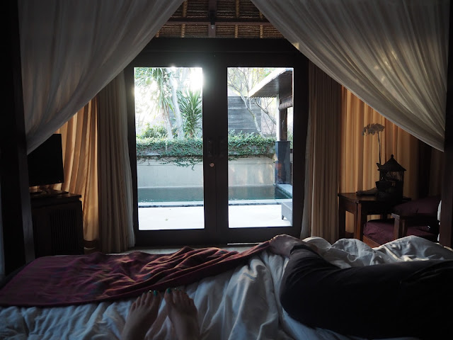 ubud village resort bed