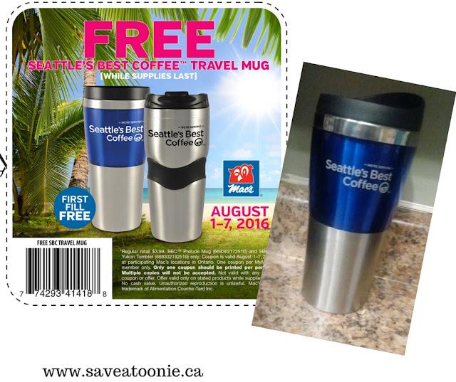 Free Travel Mug at Macs