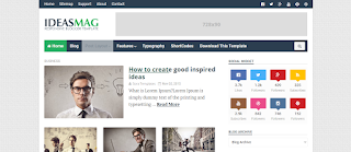 Ideas Mag Blogger Template Free