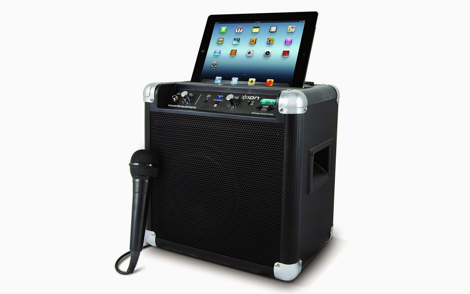 best ion tailgater bluetooth portable speaker system with auxiliary usb charger best portable. Black Bedroom Furniture Sets. Home Design Ideas