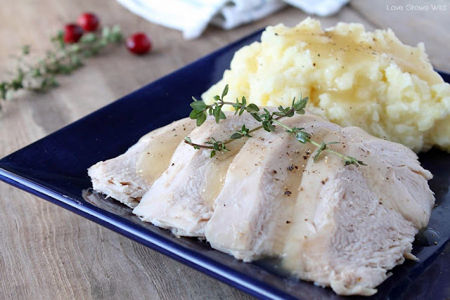 Slow Cooker Butter and Herb Turkey Breast - the easy, fool-proof way to cook the perfect turkey!