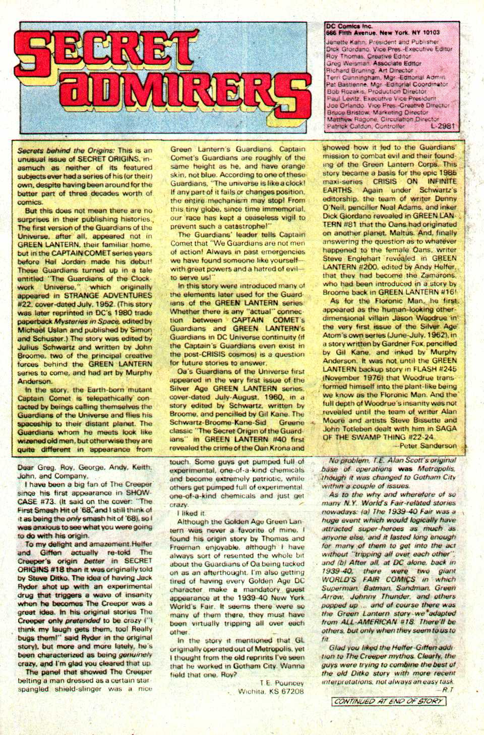 Read online Secret Origins (1986) comic -  Issue #23 - 24