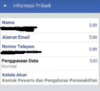 Cara Menghapus Nama Facebook lewat android