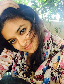 Keerthy Suresh with cute expressions