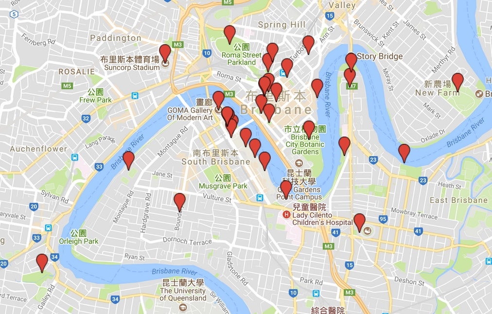 澳洲-布里斯本-景點-推薦-地圖-旅遊-自由行-Australia-Brisbane-Attraction-Travel-Map-Tourist-destination