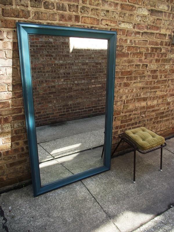 Vintage Ground Distressed Teal Floor Length Mirror