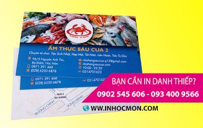 in danh thiếp đường Phan Văn Hớn, Hóc Môn