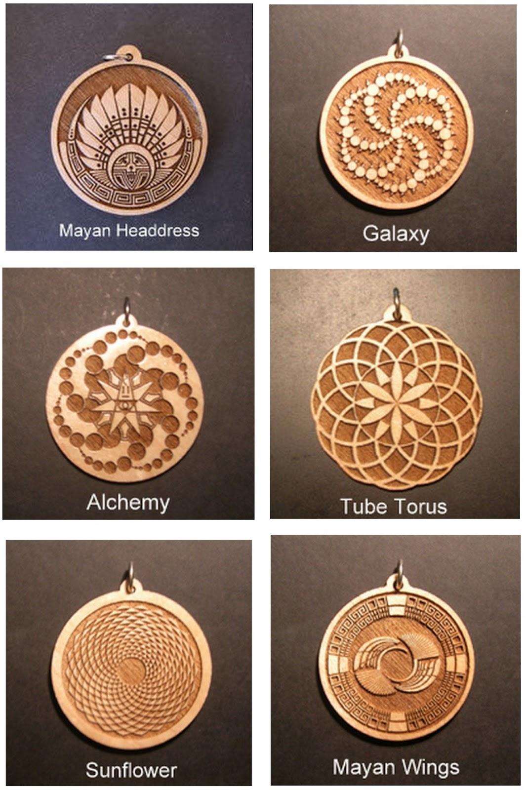 Sacred Geometry Pendants: Wooden Pendants