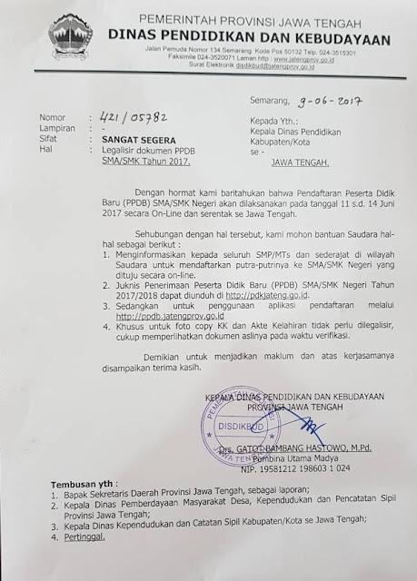 Khusus untuk Fotocopy KK dan Akta Kelahiran tidak peru dilegalisir, cukup memperlihatkan dokumen aslinya pada waktu verifikasi