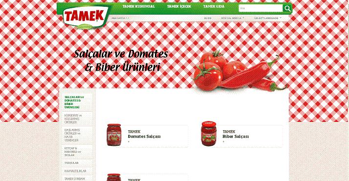 Türkiye'deki domates salçası ve biber salçası üreticileri ve ihracatçıları.-Tamek Firması