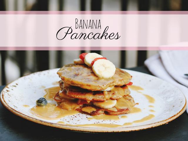 Rezept für gesunde Bananen Pancakes