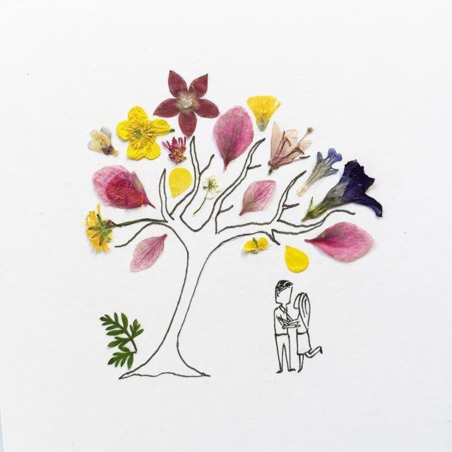 gambar sketsa pulpen yang di gabungkan dengan benda alami yang keren unik dan menarik-14