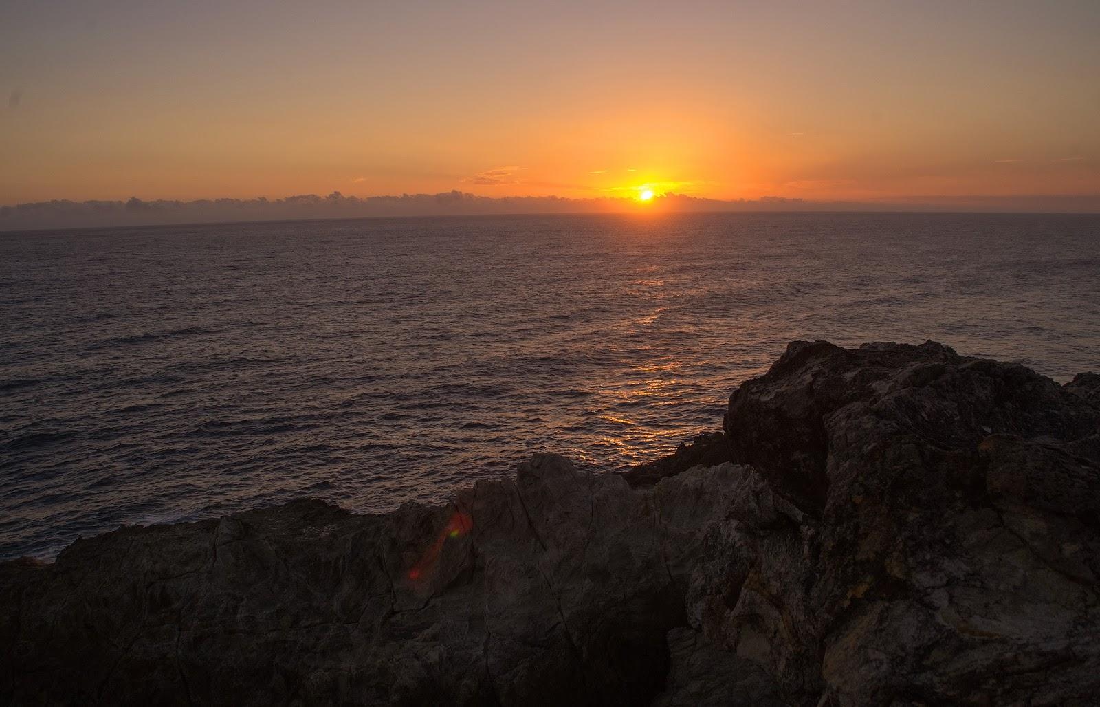 Sunrise from North Gorge Walk Stradbroke Island