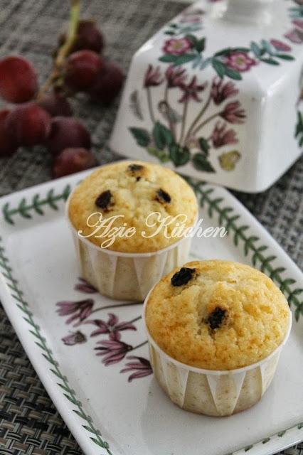 Muffin Vanilla Dengan Kismis