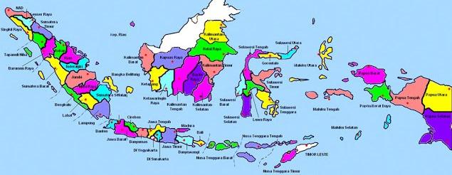 Peta Indonesia RGB