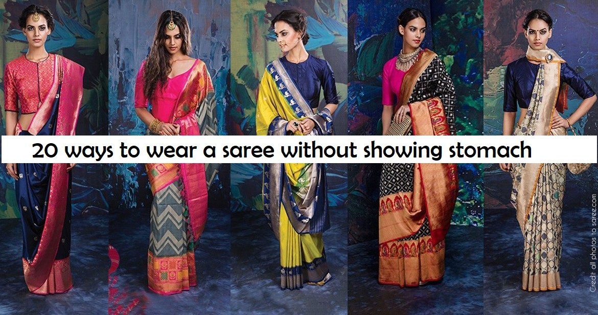 0c3cd4a97da 20 ways to drape a saree without showing your fat tummy