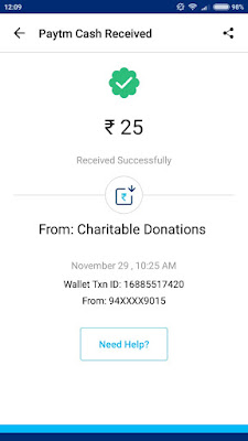Charitable Donations App Payment Proof: