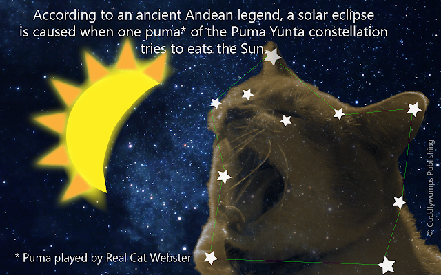 Real Cat Webster Eats the Sun--eclipse 2017