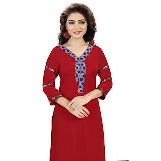 Rs. 549 AE DIL HAIN MUSHKIL ZIYAA Red Kurti by FashionDiya