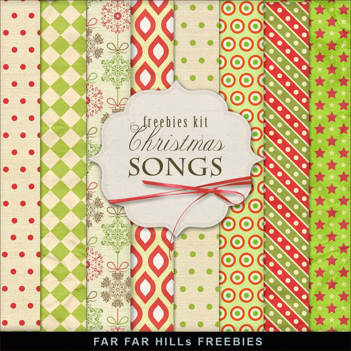 Freebies Kit of Papers - Christmas Songs