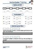 Sachaufgaben 1.Klasse Mathematik PDF