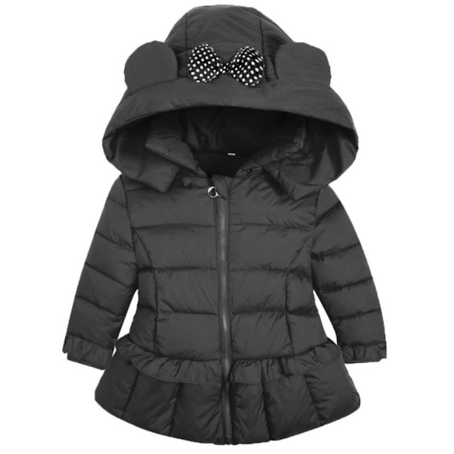 Hooded Bowknot Decorated Puffer Coat