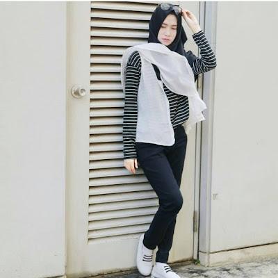 gambar fashion hijab untuk orang kurus tinggi
