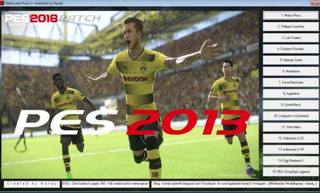 Start Screen Switcher PES 2013