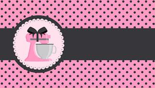 Etiquetas para Imprimir Gratis de Horneando en Rosa.